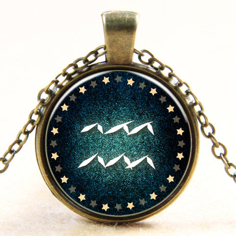Disc Necklace Galaxy vintage Jewelry B468