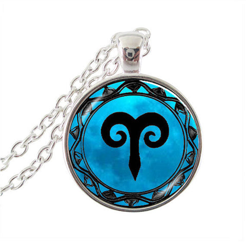 Aquarius necklace horoscope jewelry zodiac sign