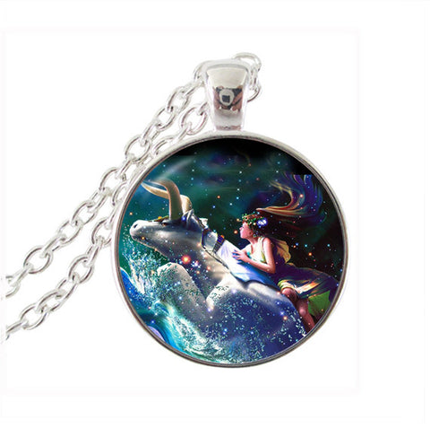 Fashion jewelry Aquarius necklace Zodiac