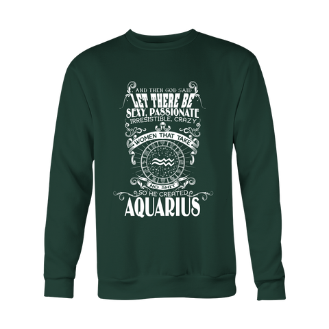 God Created Aquarius Hoodies, Sweatshirt, Long Sleeve