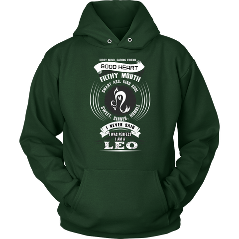 Leo Good Heart Filthy Mouth Hoodies, Sweatshirt, Long Sleeve