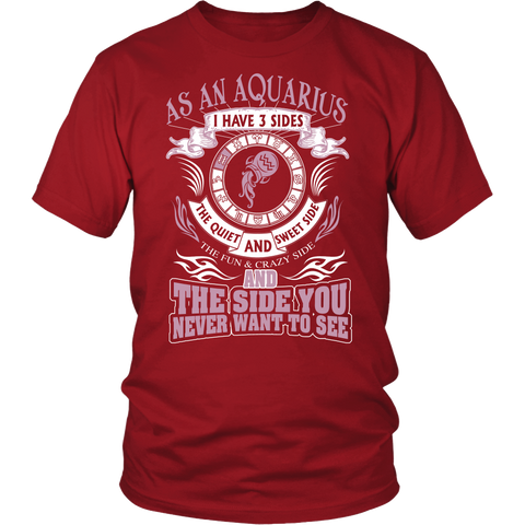 3 sides Aquarius T-Shirts