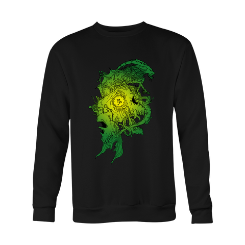 Capricorn Sign Green Style Hoodies, Sweatshirt, Long Sleeve