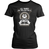 Gemini All Women Are Greated Equal T-Shirts