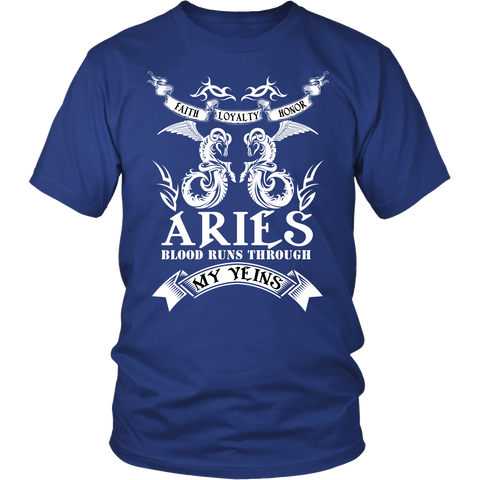 Aries Blood Runs Through My Yeins T-Shirts