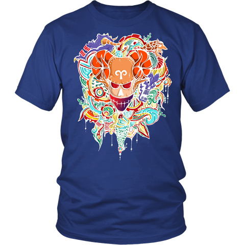 Aries Sign Multicolor Style 1 T-Shirts