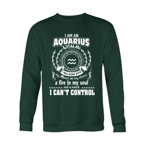 Can't control Aquarius Mouth Hoodies, Sweatshirt, Long Sleeve