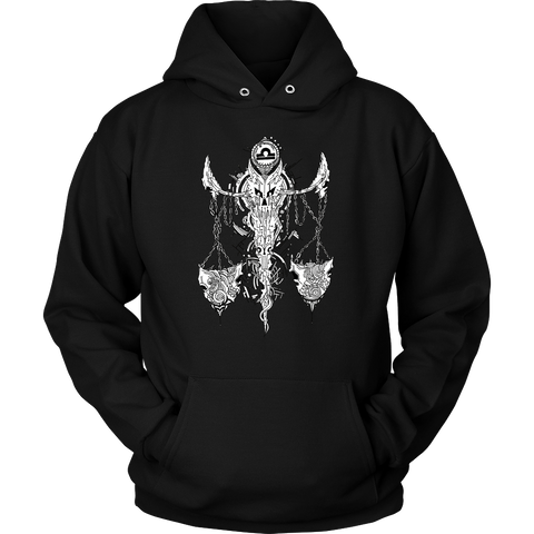 Libra Sign Black Color Style Hoodies, Sweatshirt, Long Sleeve