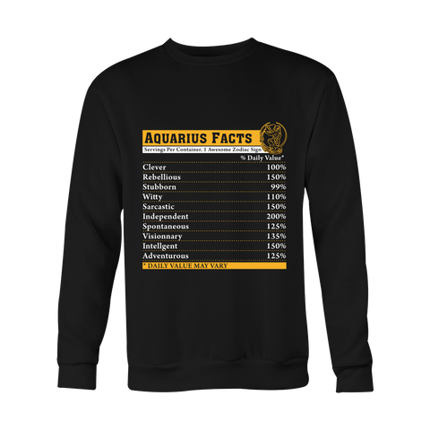 Aquarius Facts Hoodies, Sweatshirt, Long Sleeve