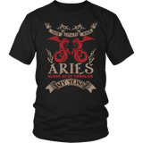 Aries Blood Runs Through My Yeins Color T-Shirts