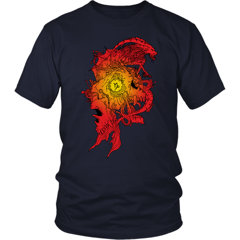 Capricorn Sign Flame Style T-Shirts