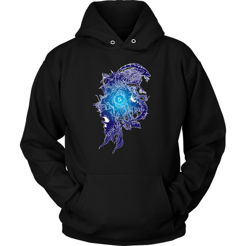 Capricorn Sign Blue Style Hoodies, Sweatshirt, Long Sleeve