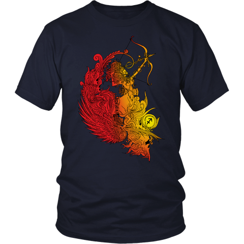 Sagittarius Sign Flame Style T-Shirts