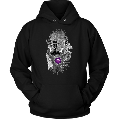 Virgo Sign Black White Color Hoodies, Sweatshirt, Long Sleeve