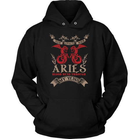 Aries Blood Runs Through My Yeins Color Hoodies, Sweatshirt, Long Sleeve