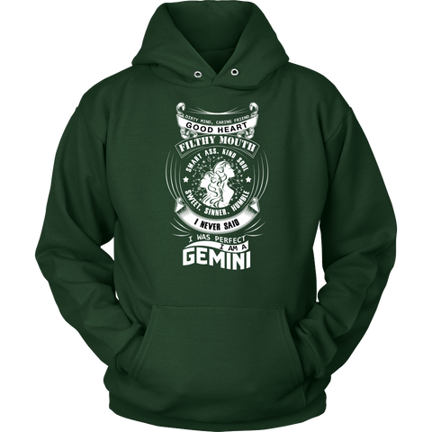 Gemini I Never Said. I Was Perfect Hoodies, Sweatshirt, Long Sleeve