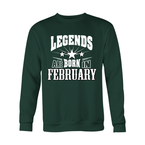 Legend are born in February Hoodies, Sweatshirt, Long Sleeve
