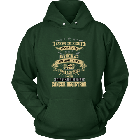 Cancer It Cannot Be Inherited Nor Can It Ever Hoodies, Sweatshirt, Long Sleeve