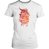 Taurus Sign Flame color Style T-Shirts