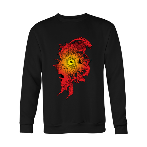 Capricorn Sign Flame Style Hoodies, Sweatshirt, Long Sleeve