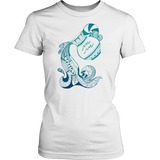 Aquarius Sign Cold Colors Style 1 T-Shirts
