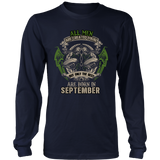 Virgo/Libra All Men Are Created Equal. But Only The Best Are Born In September Hoodies, Sweatshirt, Long Sleeve
