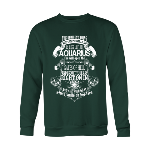 Aquarius will open the gate of hell Hoodies, Sweatshirt, Long Sleeve