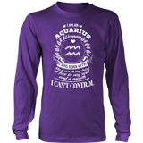 Can't control Aquarius Women Hoodies, Sweatshirt, Long Sleeve