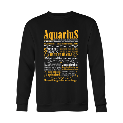 Hard to handle Aquarius Hoodies, Sweatshirt, Long Sleeve
