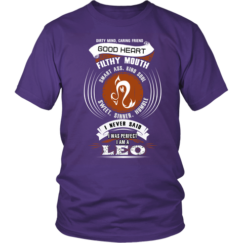 Leo Good Heart Filthy Mouth Color T-Shirts