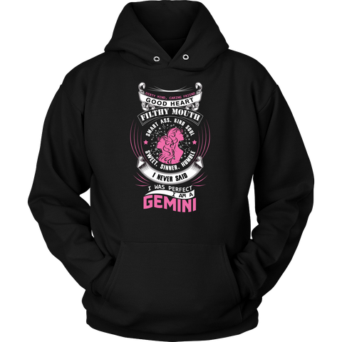 Gemini I Never Said. I Was Perfect Color Hoodies, Sweatshirt, Long Sleeve