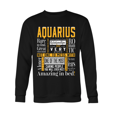 Aquarius Romantic Hoodies, Sweatshirt, Long Sleeve