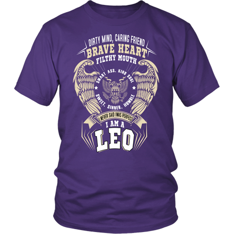 Leo Brave Heart Filthy Mouth Color T-Shirts