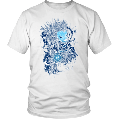 Leo Sign Blue Color Style T-Shirts