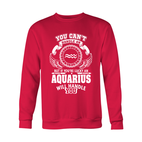 You can't handle Aquarius Hoodies, Sweatshirt, Long Sleeve