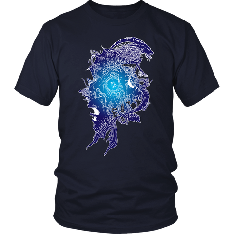 Capricorn Sign Blue Style T-Shirts