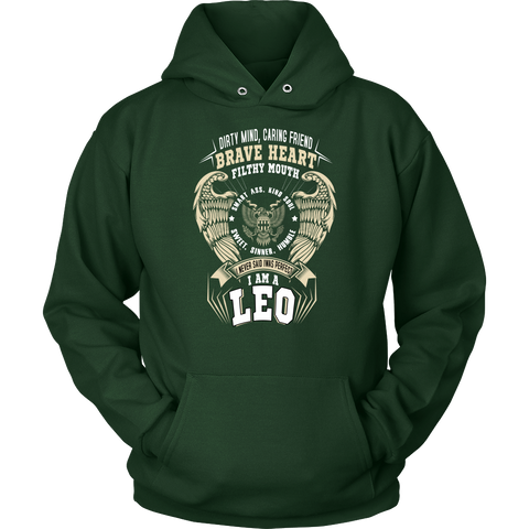 Leo Brave Heart Filthy Mouth Color Hoodies, Sweatshirt, Long Sleeve