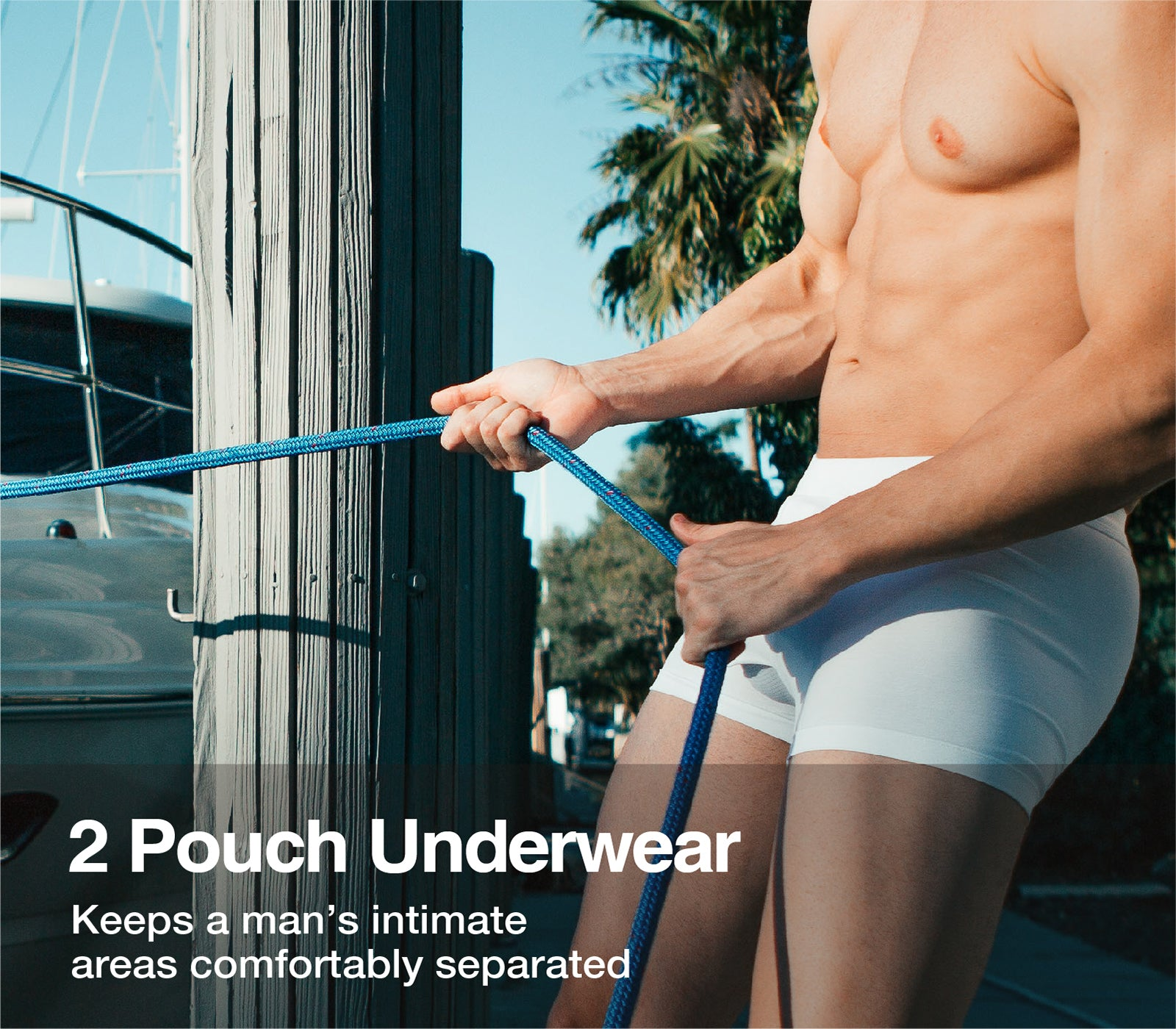 Separatec mens underwear, 2 Pouch Boxer Briefs, Innovative Daul Pouch Patent Technology
