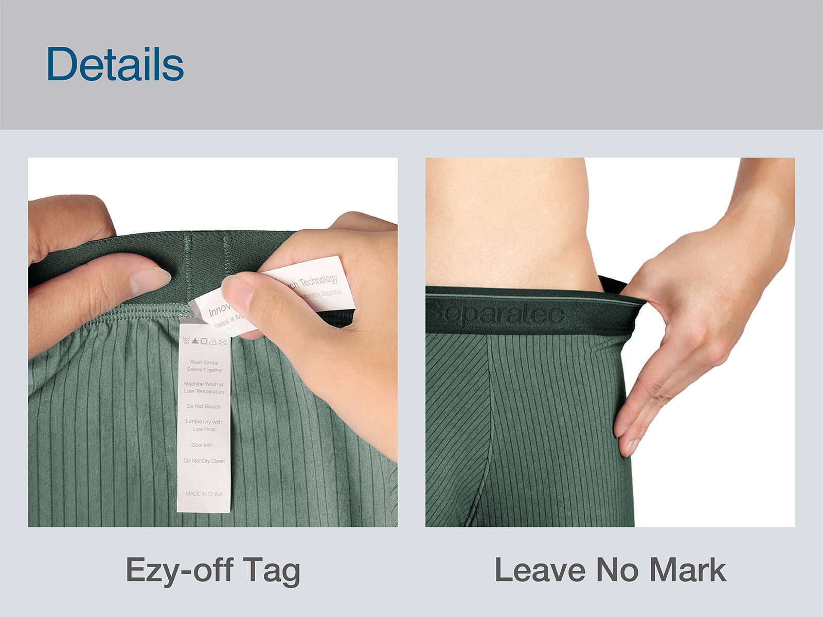 Separatec 2 Pouch underwear, Innovative Daul Pouch Patent Technology, Ezy-off tag, leave no mark