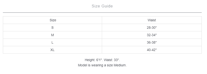 Separatec underwear's size guide
