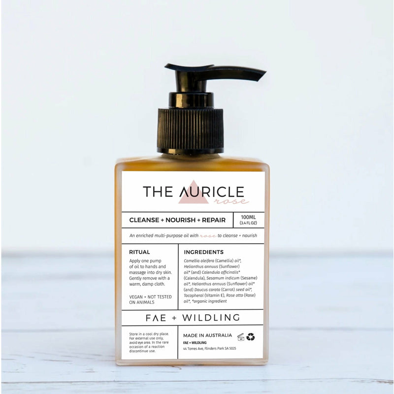 THE AURICLE ROSE - Cleanser + Multipurpose Oil - For Sensitive / all skin types