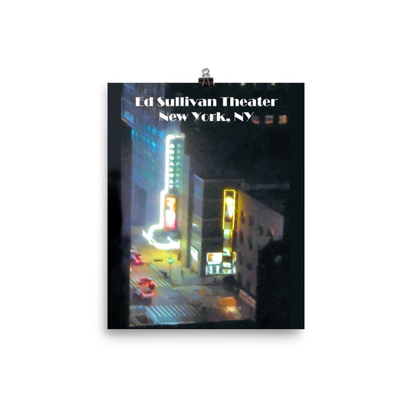Broadway's Ed Sullivan Theater New York City Poster