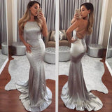 formal backless mermaid sliver long prom dress,BD3542