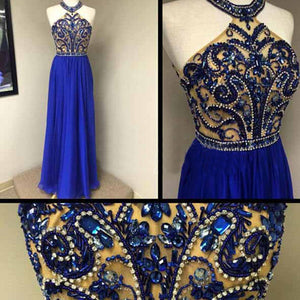 Royal blue Prom Dresses,Charming Prom Dress,Long Prom dress,2016 Prom Dress,Evening Dress,BD406