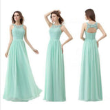 Mint bridesmaid dress,Long bridesmaid dress,Lace bridesmaid dress,Cheap bridesmaid dress,BD401
