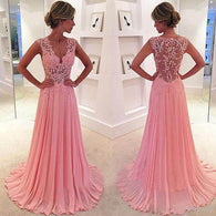 Pink Prom Dresses,Lace Prom Dress,See through Prom Dress,2016 Prom Dress,dresses for prom,BD087  alt=