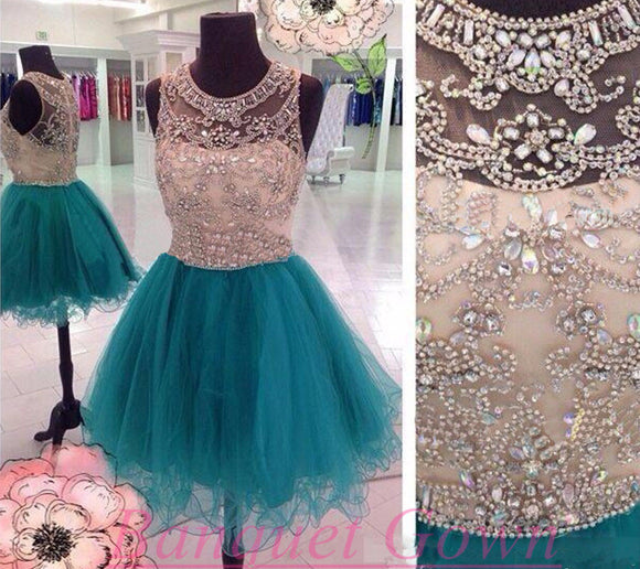 Short Homecoming dress,Green prom Dress,Charming Prom Dresses,Party dress for girls,BD306