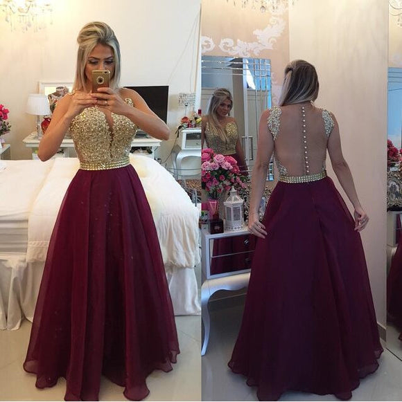 Charming Prom Dresses,Burgundy Prom Dress,Dresses For Prom,A-line Prom Dress,Party Dress,BD391