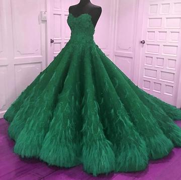 romantic lace sweetheart bodice corset feather ball gown