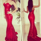 Red Prom Dress,Sheath prom dress,Charming prom dress,Long prom dress,Sequin prom dress,BD380